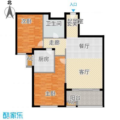 熙悦春天1.32㎡5#-7#楼K户型2室2厅1卫1厨