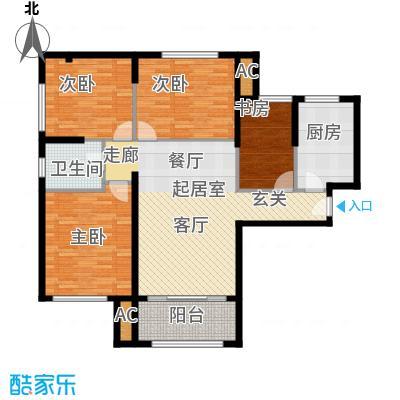 熙悦春天12.00㎡5#-7#楼H户型4室2厅1卫1厨