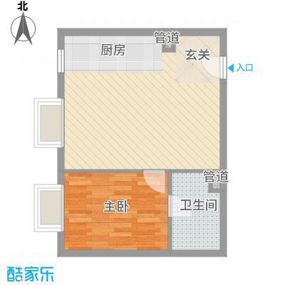北京尊府65.00㎡�H户型1室1厅1卫1厨