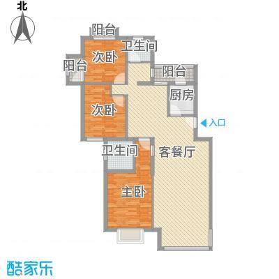 世纪龙鼎131.28㎡户型3室2厅2卫1厨