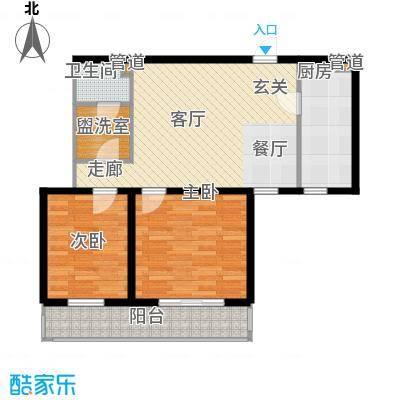 东丽温泉家园C户型2室1厅1卫1厨