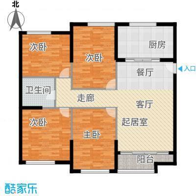 熙悦春天131.40㎡2#、3#楼A户型3室2厅1卫1厨