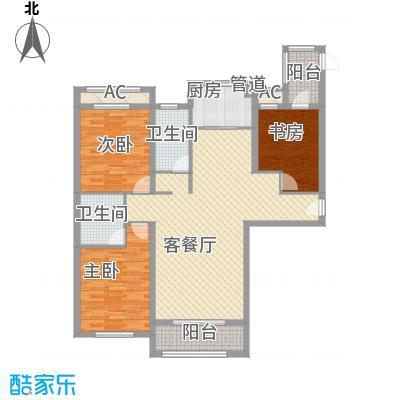 天玺香颂13.14㎡一期25号楼C-5户型3室2厅2卫1厨