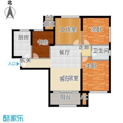 熙悦春天128.56㎡5#-7#楼L户型3室2厅1卫1厨