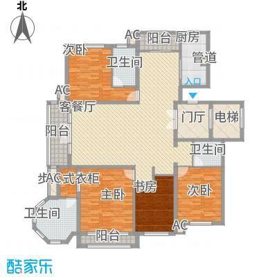 天玺香颂13.60㎡一期3、5、7号楼D-1户型4室2厅3卫1厨