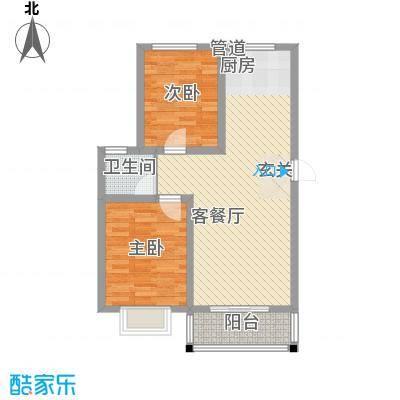 海东盛景85.50㎡33#户型2室2厅1卫1厨