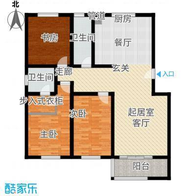华奥新宁苑136.11㎡D户型3室2厅2卫1厨