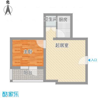 富华家园58.10㎡户型1室1厅1卫1厨