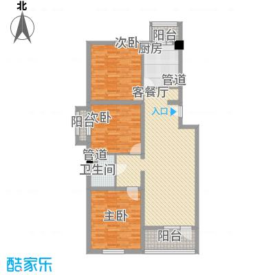 回龙观文化居住区ⅢF户型3室2厅1卫1厨