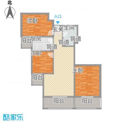 瑞丽江畔11.55㎡14号楼户型3室2厅1卫1厨