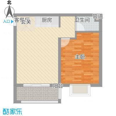 南新悦城7号11号楼A户型1室1厅1卫