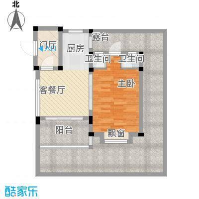 世茂・怒放海57.10㎡B3海马独栋户型1室1厅1卫1厨