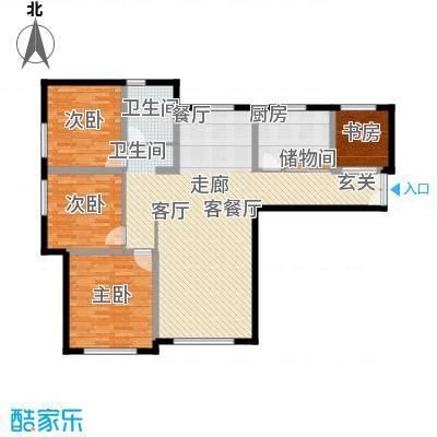 三园新城佳苑12.83㎡G户型4室2厅1卫1厨
