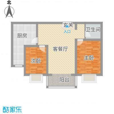 青秀家园3.20㎡F户型2室2厅1卫1厨