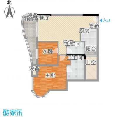碧海蓝天三期05户型2室2厅2卫1厨