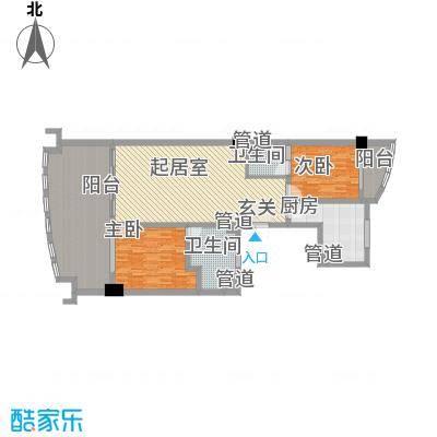 三亚湾海韵度假酒店132.11㎡C户型2室2厅2卫1厨