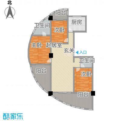 三亚湾海韵度假酒店167.24㎡B-6户型3室1厅1卫2厨