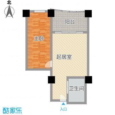 三亚湾海韵度假酒店78.30㎡B-2户型1室1厅1卫