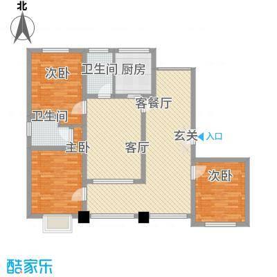 香水原-陵水魅力养生御苑1.20㎡D型户型3室2厅2卫1厨