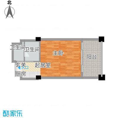 三亚湾海韵度假酒店57.38㎡A户型1室1卫