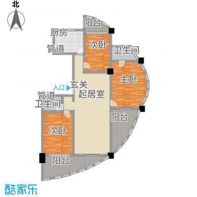 三亚湾海韵度假酒店168.14㎡D户型3室2厅2卫1厨