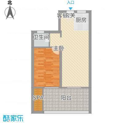 香水原-陵水魅力养生御苑5.00㎡A房型户型1室2厅1卫1厨