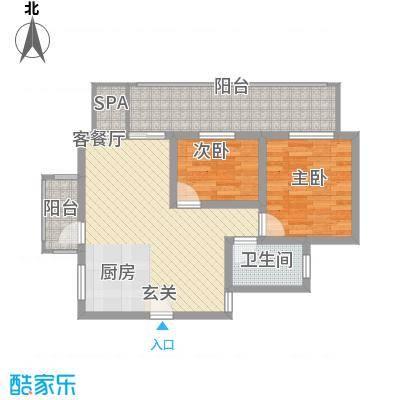 香水原-陵水魅力养生御苑62.20㎡B2户型2室2厅1卫