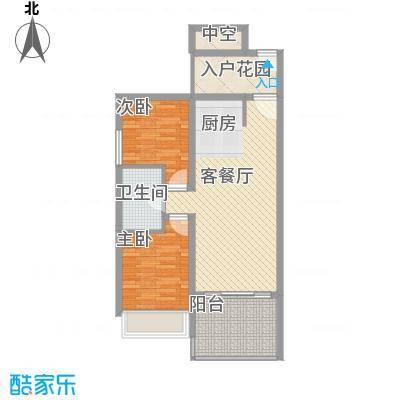 南天・凤凰城7.34㎡商品房D户型2室1厅1卫1厨