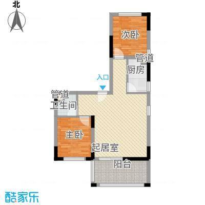 南天・凤凰城75.58㎡1110户型2室1厅1卫1厨
