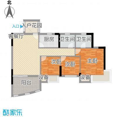 海韵假日休闲公寓17.24㎡1#楼5户型3室2厅2卫