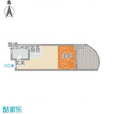 晋唐海湾67.20㎡酒店、2-7#楼A户型1室1卫1厨