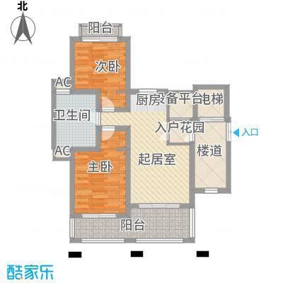 顺泽福湾J户型2室2厅1卫1厨