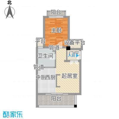 顺泽福湾71.41㎡花园洋房H户型