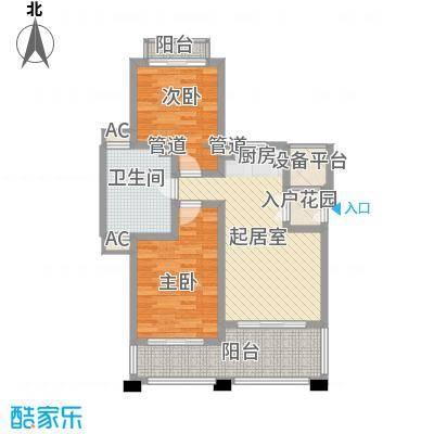 顺泽福湾2.20㎡花园洋房J户型