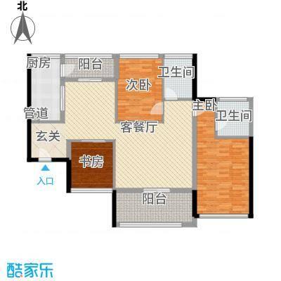 泰和花园131.37㎡2#A座CD户型2室2厅2卫1厨