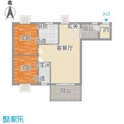 国色天香B户型2室1厅1卫1厨