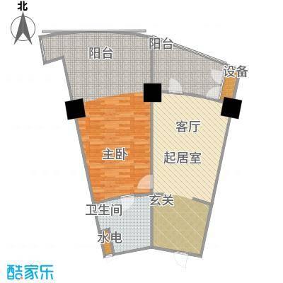 擎天半岛滨海国际公寓87.80㎡A1户型1室1厅