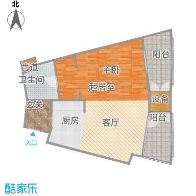 擎天半岛滨海国际公寓85.50㎡E户型1室1厅1卫1厨