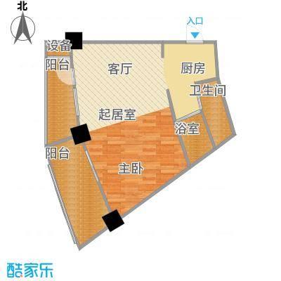 擎天半岛滨海国际公寓5.87㎡G户型1室1厅1卫1厨