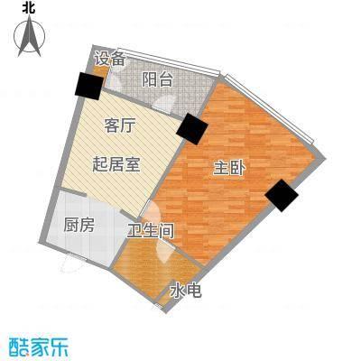 擎天半岛滨海国际公寓82.66㎡A户型1室1厅1卫1厨