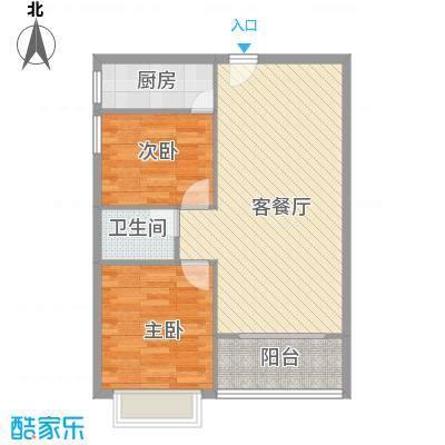 南天・太阳城8.51㎡(5号室)户型2室2厅1卫1厨