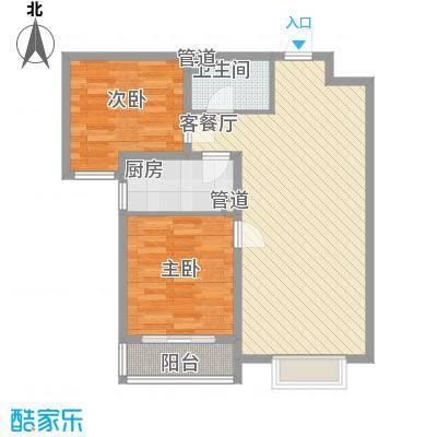 橄榄城87.64㎡(已售罄)二期10、11号楼E10户型2室2厅1卫1厨