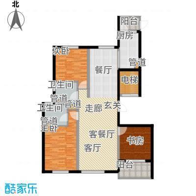 铂金时代A户型3室2厅2卫1厨