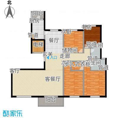 铂金时代211.88㎡2#楼C户型4室3厅2卫1厨