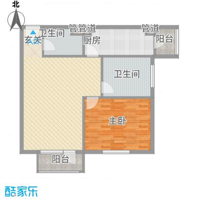 巴克寓所6.00㎡二期摩界N3户型2室2厅1卫1厨