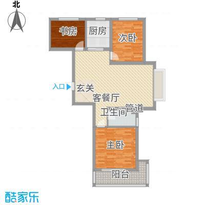 丽景华苑112.33㎡3号楼1单元G'-1户型3室2厅1卫1厨