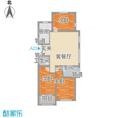 幸福里13.86㎡3号楼1单元01户型3室2厅2卫1厨