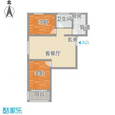 万华城7.11㎡住宅A1户型2室2厅1卫1厨