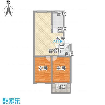 胜景茂园85.50㎡9号码2号3户型2室2厅1卫1厨