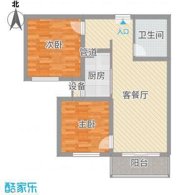 丽景中苑84.77㎡一期1#楼M户型2室2厅1卫1厨
